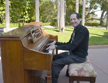 Eric Marchese plays at the Palm Court